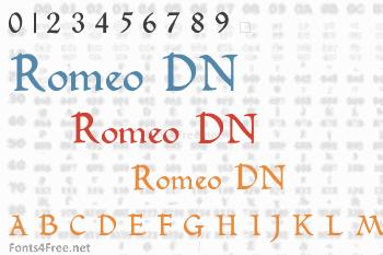 Romeo DN Font