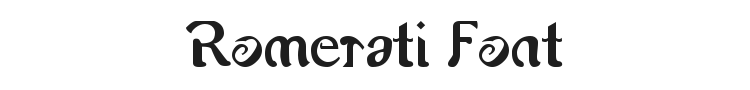 Romerati Font Preview