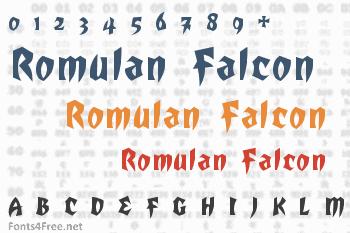 Romulan Falcon Font