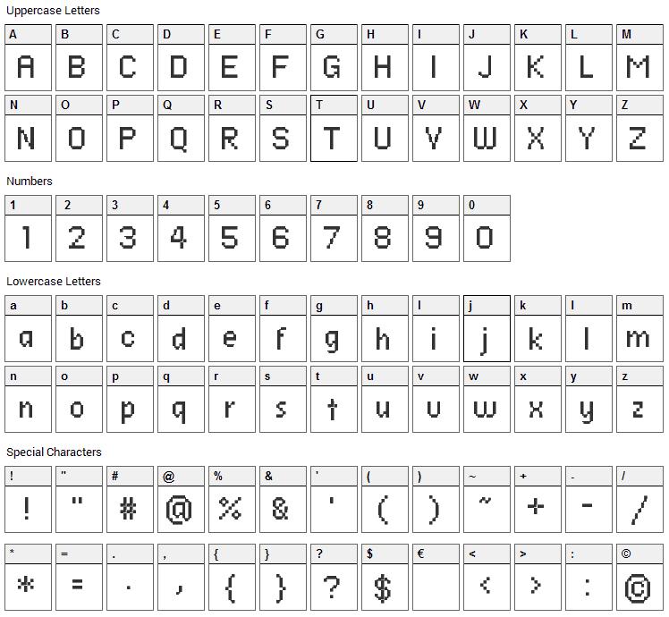 Ronda Seven Font Character Map