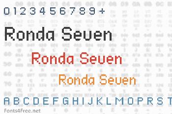 Ronda Seven Font