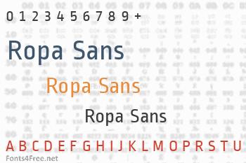 Ropa Sans Font