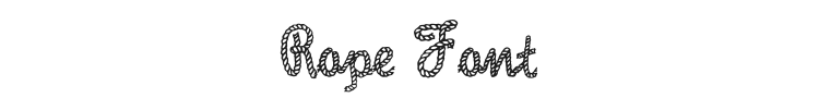 Rope Font Preview