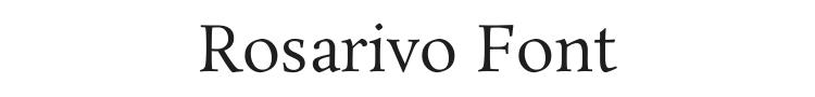 Rosarivo Font Preview
