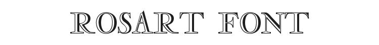Rosart Font Preview