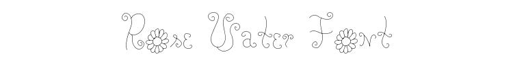 Rose Water Font