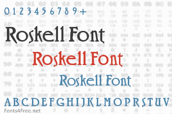 Roskell Font
