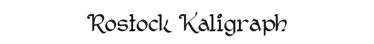 Rostock Kaligraph Font Preview
