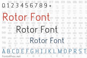 Rotor Font