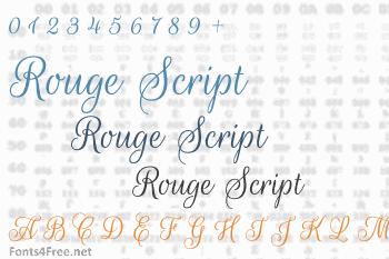 Rouge Script Font