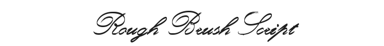 Rough Brush Script Font Preview