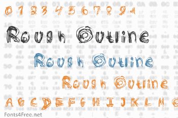 Rough Outline Font