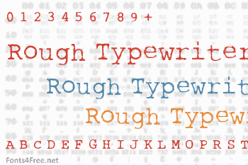 Rough Typewriter Font