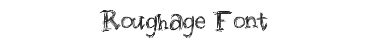 Roughage Font Preview