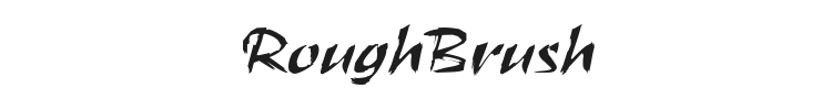 RoughBrush Font Preview