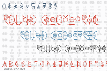 Round Geometric Font