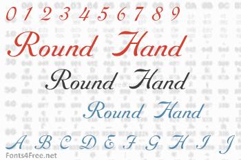 Round Hand Font