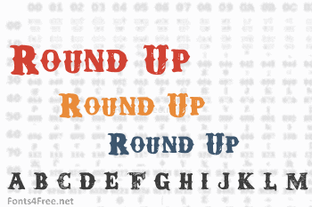 Round Up Font