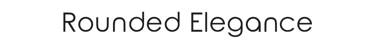 Rounded Elegance Font Preview