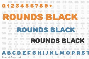 Rounds Black Font