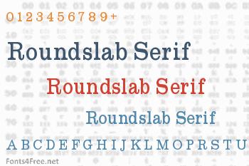 Roundslab Serif Font