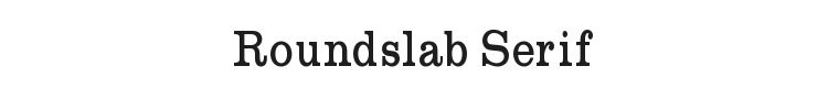 Roundslab Serif