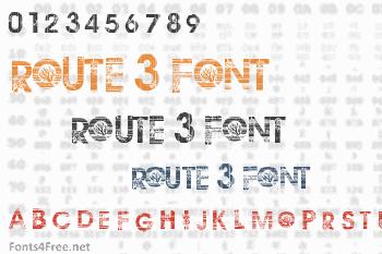 Route 3 Font