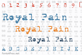 Royal Pain Font
