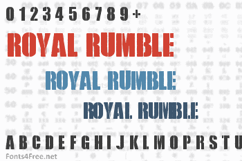 Royal Rumble Font