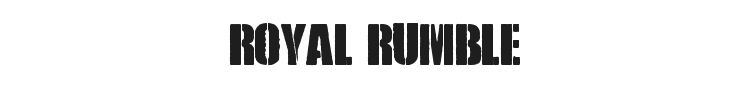 Royal Rumble Font