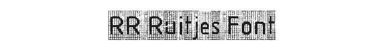 RR Ruitjes Font Preview