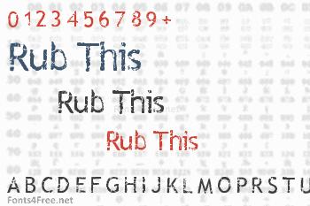 Rub This  Font
