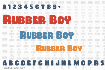 Rubber Boy Font