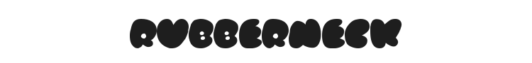 Rubberneck Font Preview