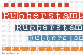 Rubberstamp Font