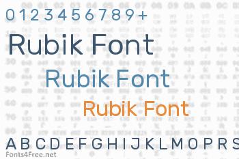 Rubik Font