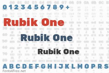 Rubik One Font