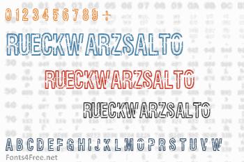 Rueckwarzsalto Font