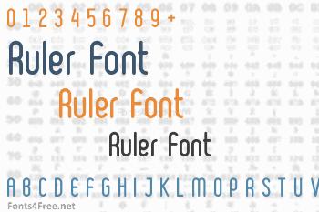 Ruler Font