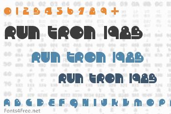 Run Tron 1983 Font
