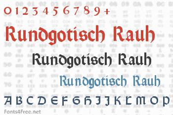 Rundgotisch Rauh Font