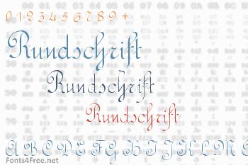 Rundschrift Font