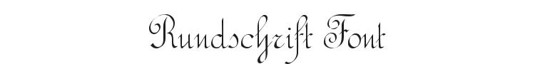 Rundschrift Font Preview