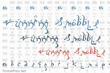 Running Smobble Font