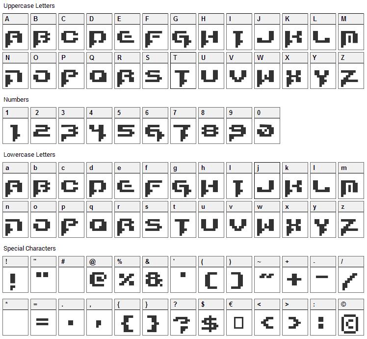 Runstop Restore Font Character Map