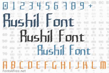 Rushil Font