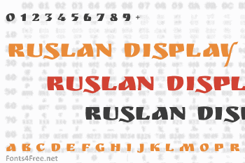 Ruslan Display Font