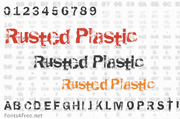 Rusted Plastic Font