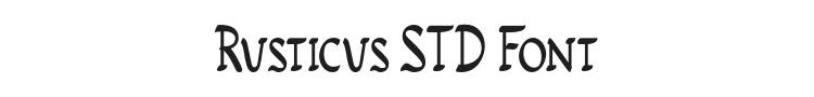 Rusticus STD Font