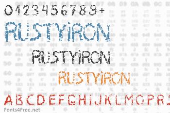 RustyIron Font